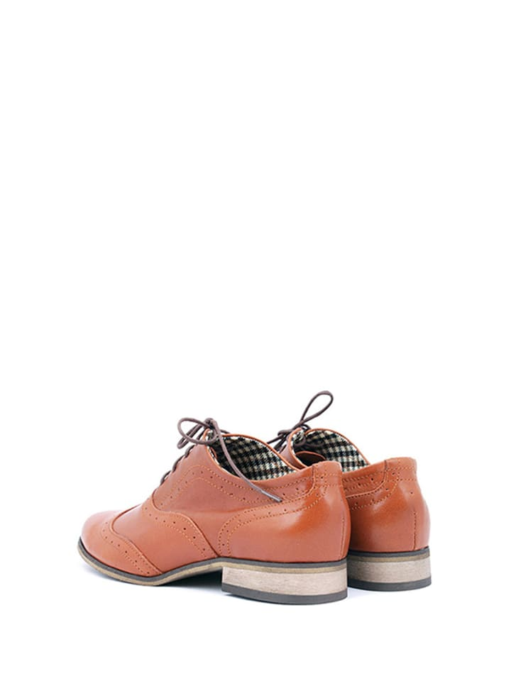 Zapato Leder-Schnürschuhe in Braun