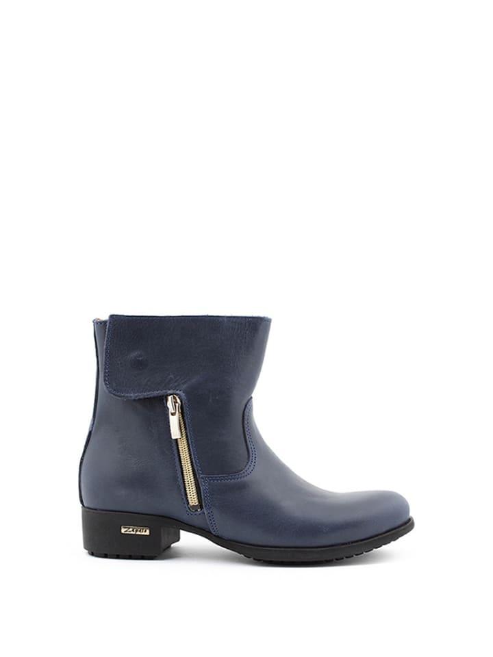 Zapato Leder-Stiefeletten in Dunkelblau - 54% xsvNDh02