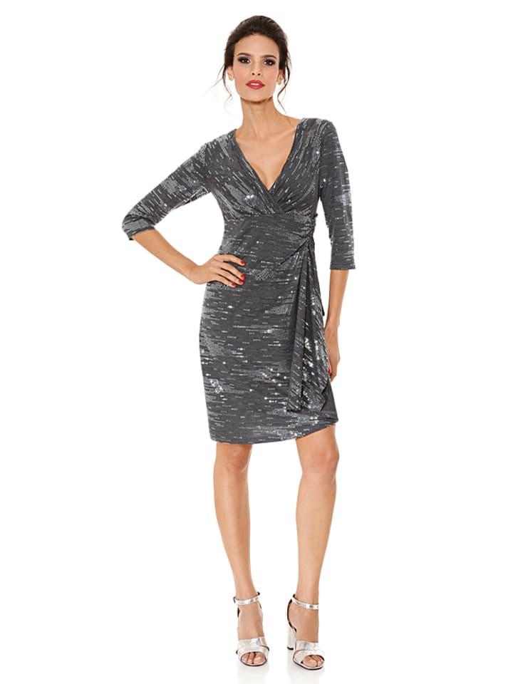 ashley brooke event jurk grijs zilver. Black Bedroom Furniture Sets. Home Design Ideas