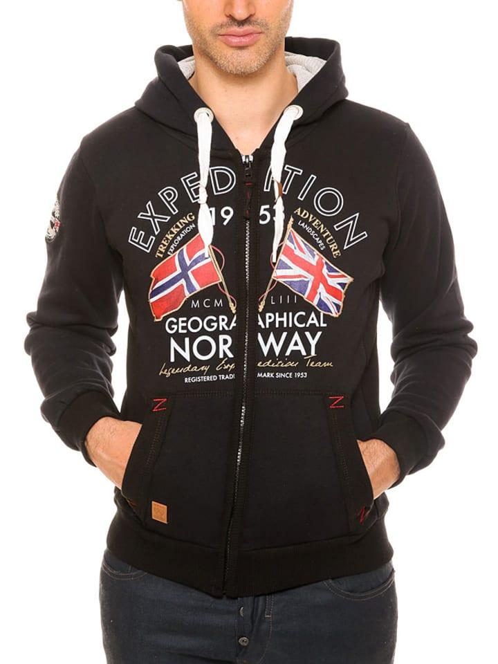 "Geographical Norway Sweatjacke ""Flepto"" in Schwarz"