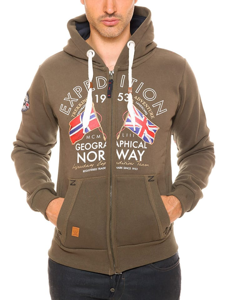 "Geographical Norway Sweatjacke ""Flepto"" in Braun"