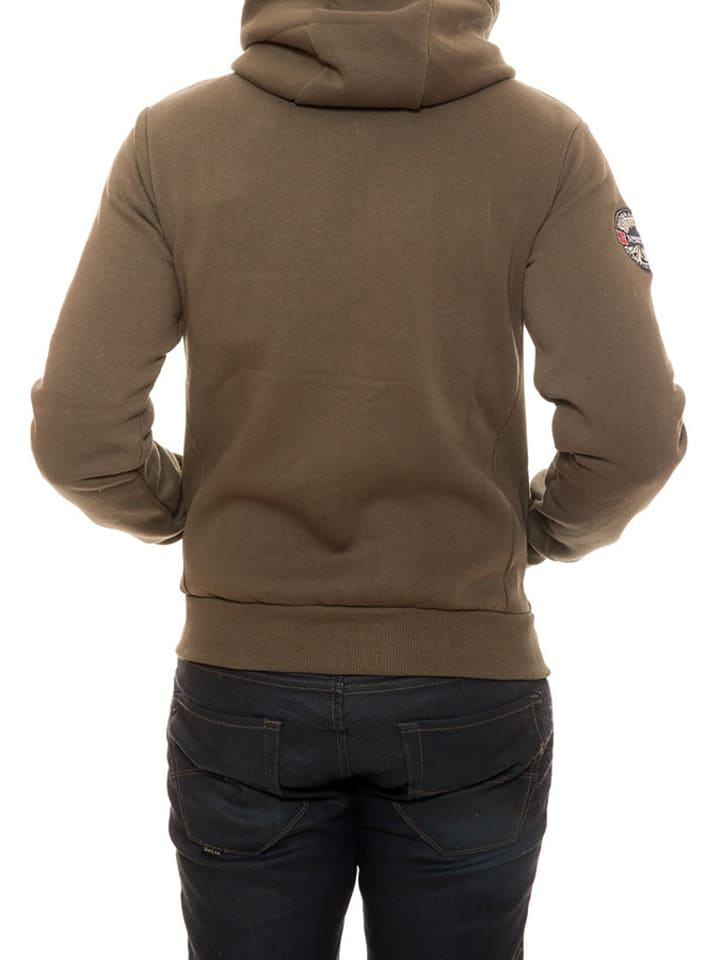 """Geographical Norway Sweatjacke """"Flepto"""" in Braun"""