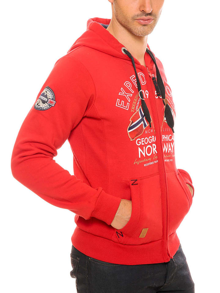"Geographical Norway Sweatjacke ""Flepto"" in Rot"