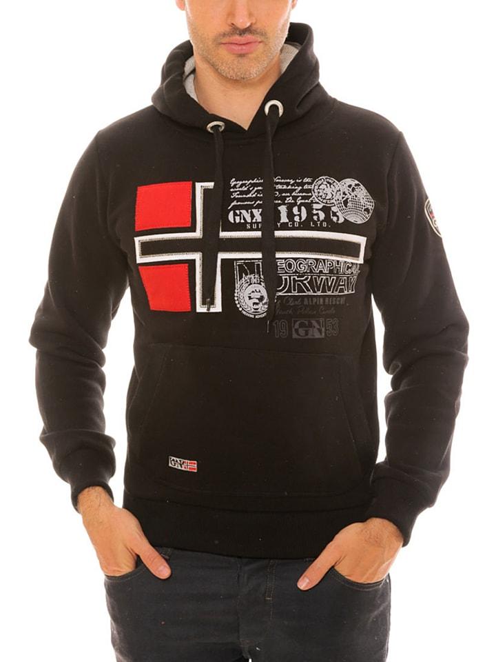 "Geographical Norway Sweatshirt ""Gemeaux"" in Schwarz"