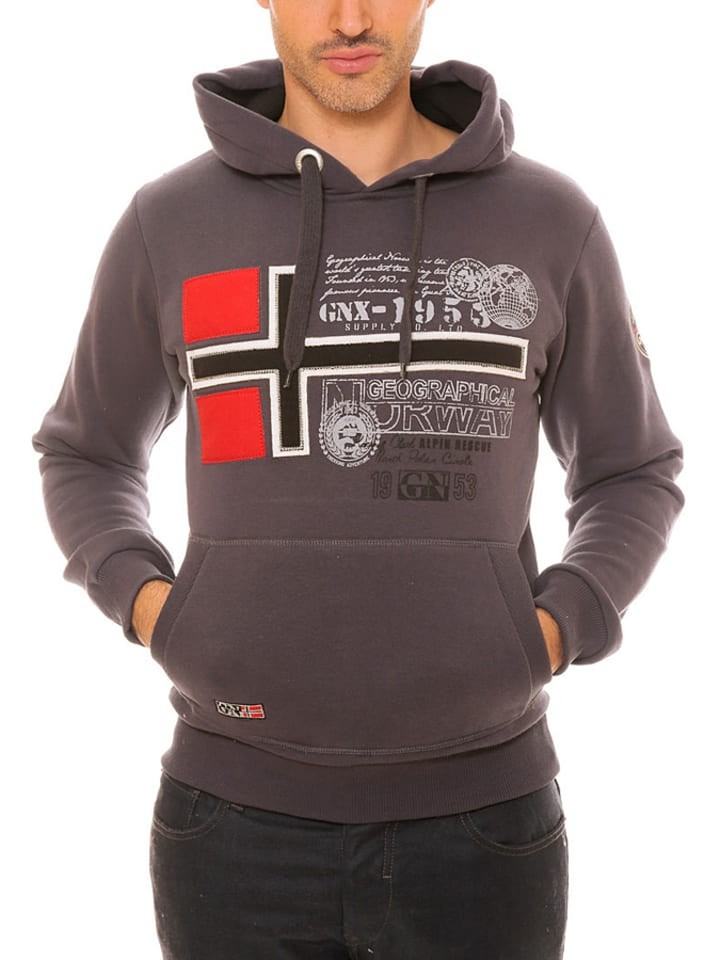 "Geographical Norway Sweatshirt ""Gemeaux"" in Grau"