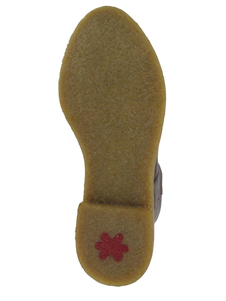 "Flip Flop Leder-Stiefel ""Taari Nappa"" in Dunkelbraun"