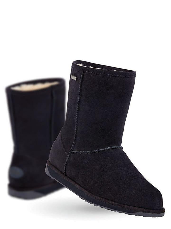 """EMU Boots met schapenvacht """"Paterson"""" donkerblauw"""
