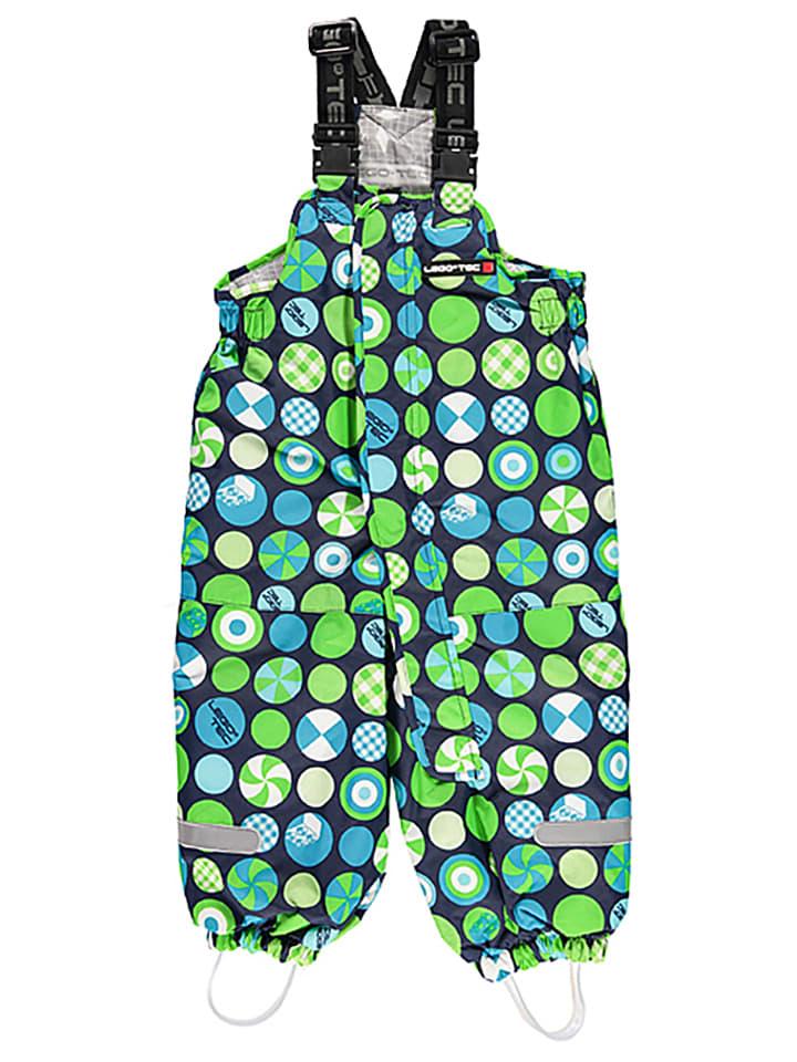 "Legowear Ski-/Snowboardhose ""Parker"" in Dunkelblau/ Hellblau/ Grün"