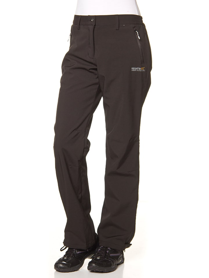 "Regatta Softshellbroek ""Geo II - Long"" zwart"