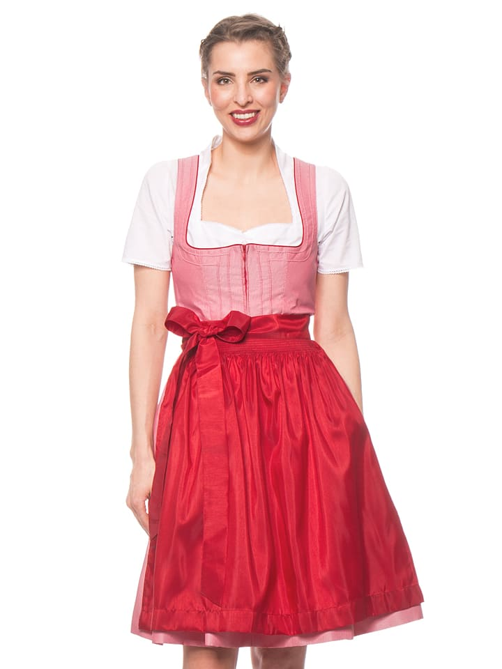 turi landhaus midi dirndl adriane in rot wei. Black Bedroom Furniture Sets. Home Design Ideas