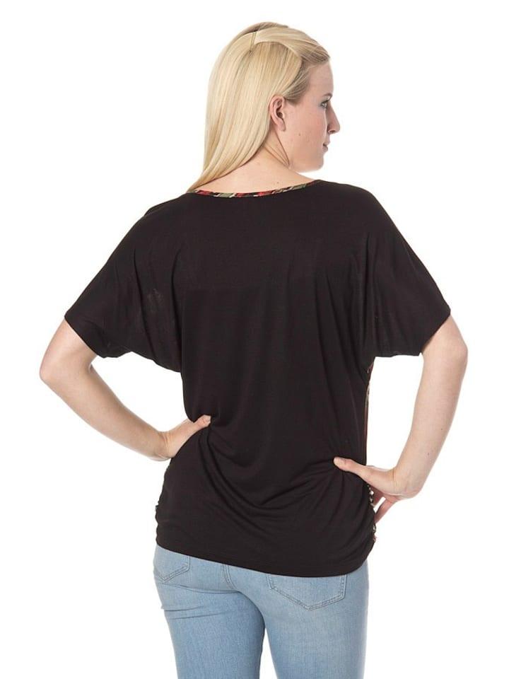 DEPT Shirt in schwarz/ rot/ grün