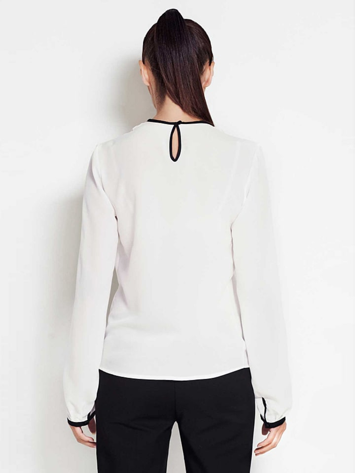 Awama Shirt in Creme/ Schwarz