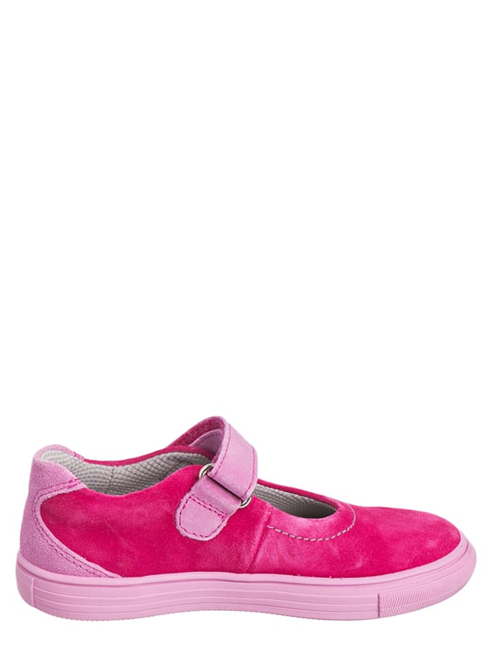 Richter Shoes Leder-Ballerinas in Pink/ Rosa