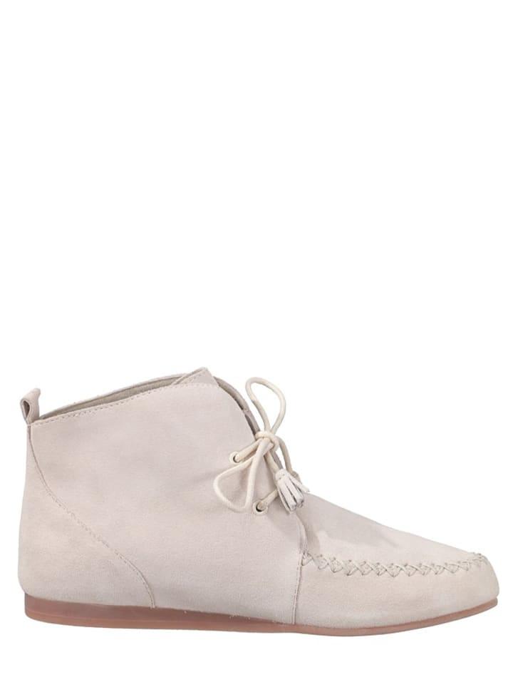 "Flip Flop Leder-Mokassins ""Lenni"" in Weiß"