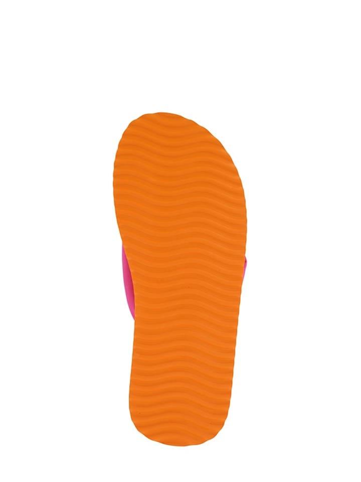 "Flip Flop Flip Flops ""Tex Tube"" in Orange/ Pink"