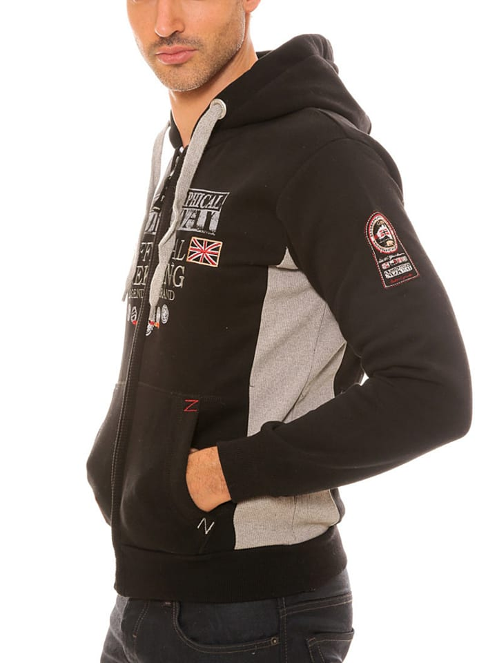"Geographical Norway Sweatjacke ""Gafont"" in Schwarz"