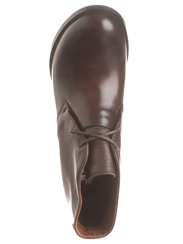 Otto Kern Leder-Ankle-Boots in Braun