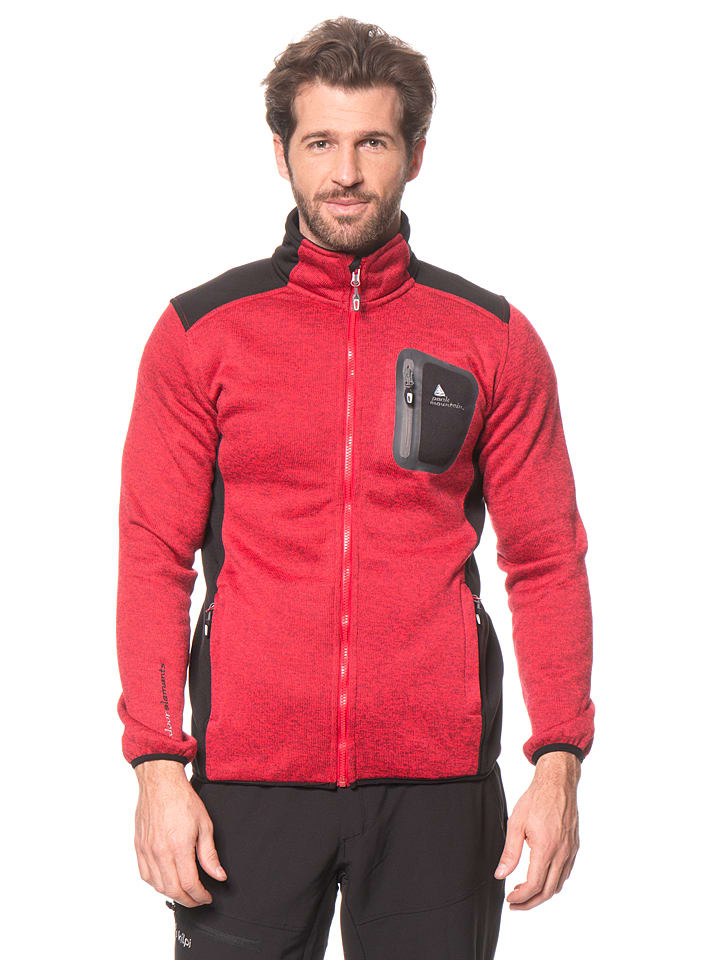 "Peak Mountain Fleecejacke ""Cenit"" in Rot"