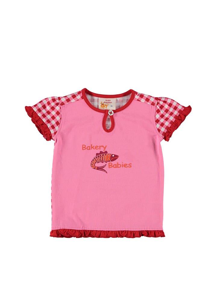 Dutch Bakery Koszulka w kolorze jasnoróżowo-czerwonym