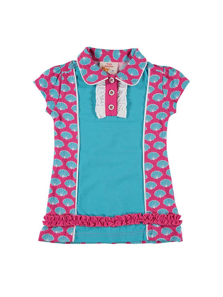 Dutch Bakery Sukienka w kolorze turkusowo-różowym