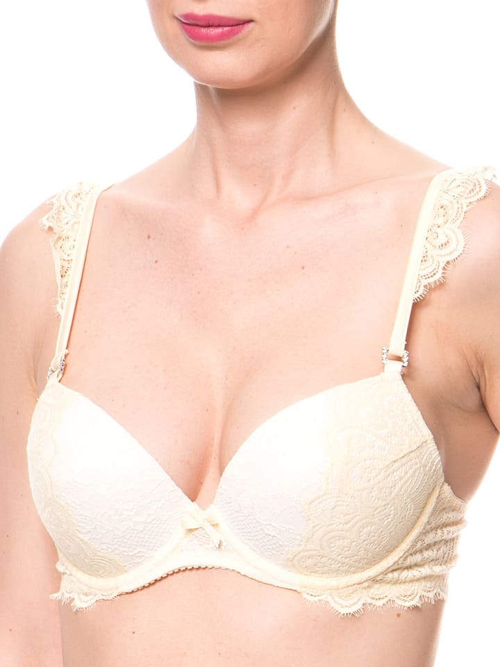 "Pleasure state Push-up-BH ""Kourtney Leigh"" in Gelb/ Creme"