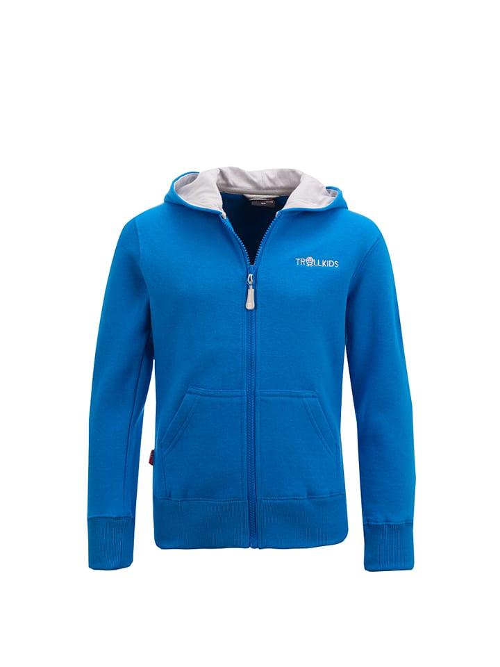 """Trollkids Bluza """"Bergen XT"""" w kolorze niebiesko-szarym"""