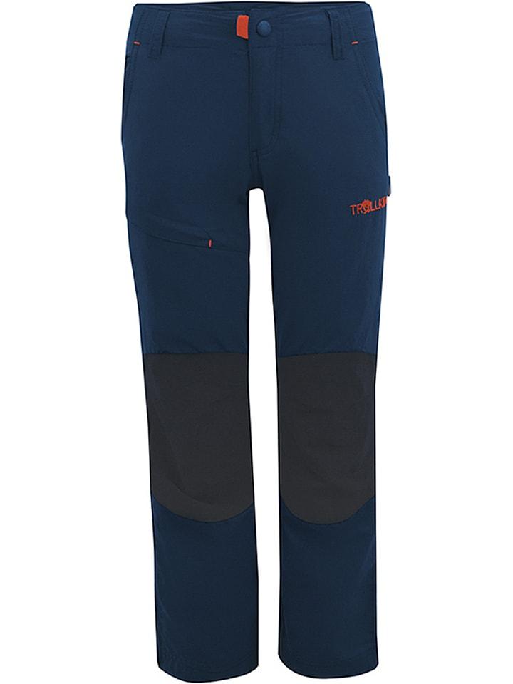 """Trollkids Spodnie trekkingowe """"Hammerfest"""" w kolorze granatowym"""