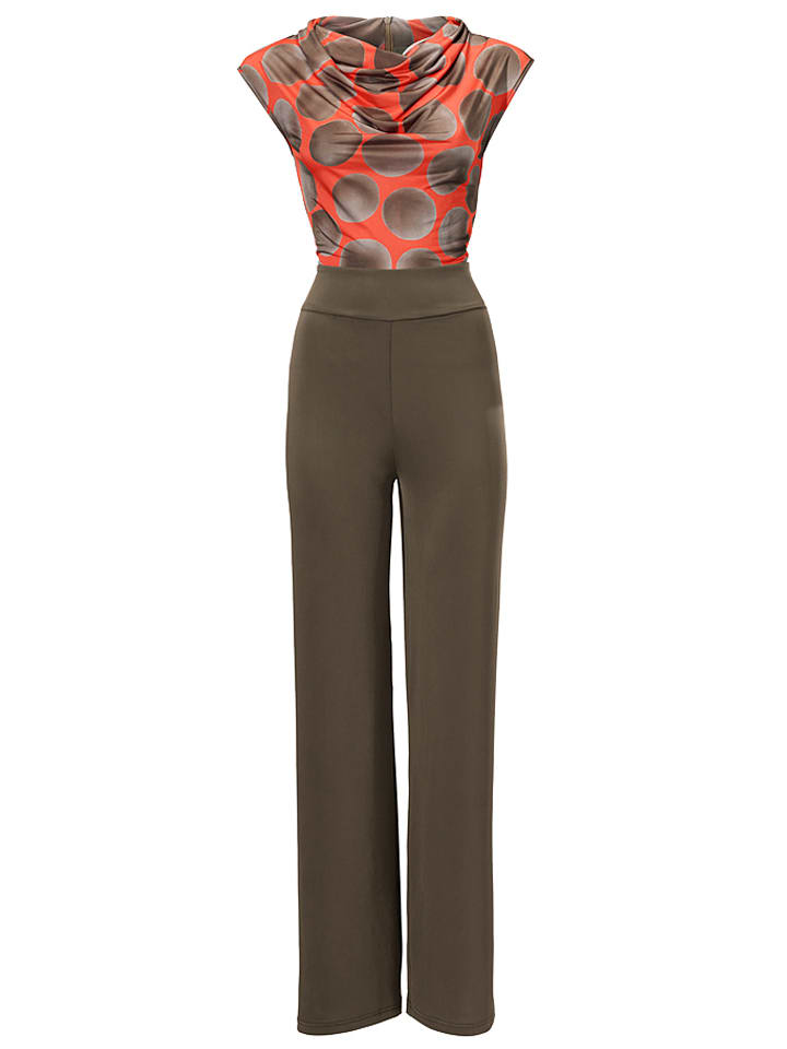 B.C. Best Connections by heine Jumpsuit in Orange/ Braun