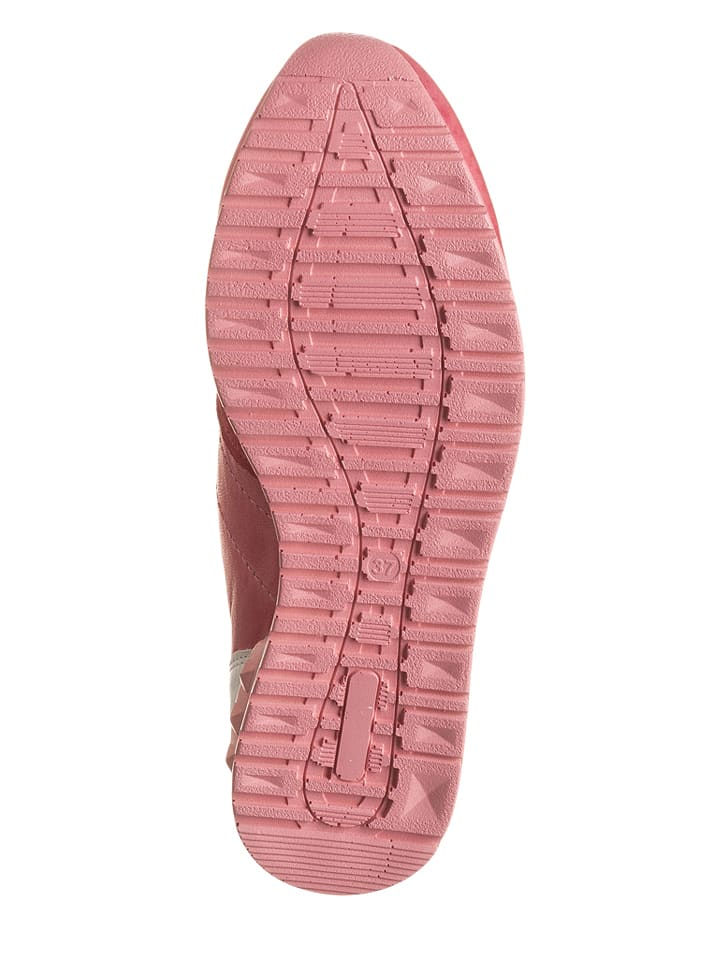 Andrea Conti Leder-Sneakers in Pink