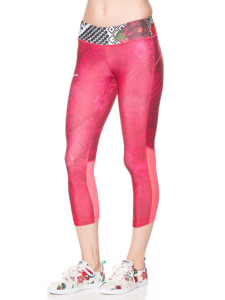 Desigual Sport Leggings in Pink
