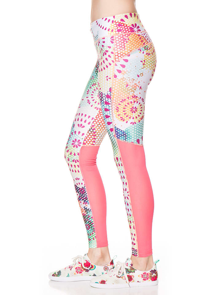 Desigual Sport Leggings in Rosa/ Bunt
