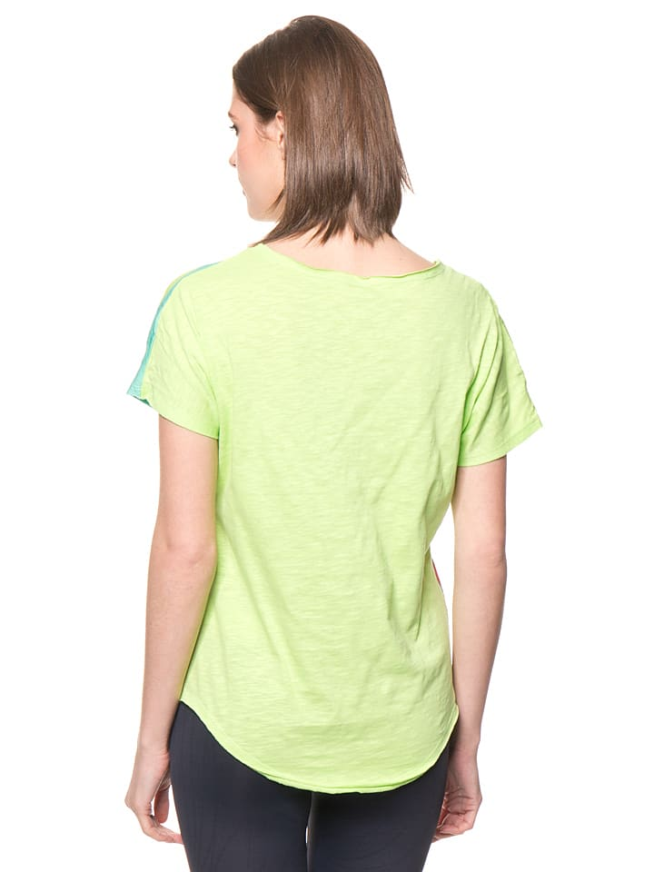 Desigual Sport Shirt in Grün/ Bunt