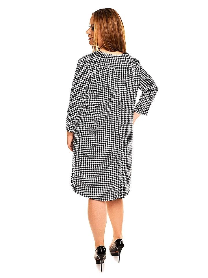 KARTES MODA Kleid in Schwarz/ Weiß