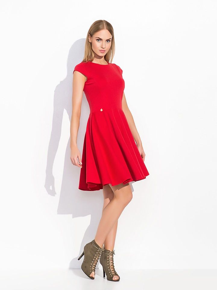 Makadamia Kleid in Rot