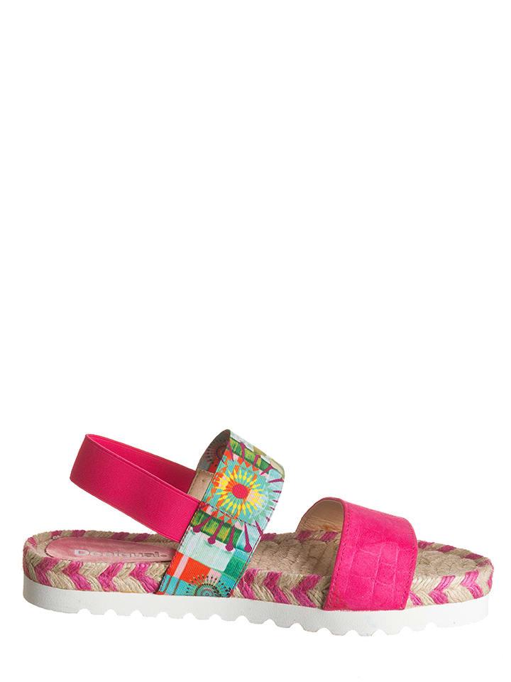 "Desigual Sandalen ""Formentera 4"" in Pink"