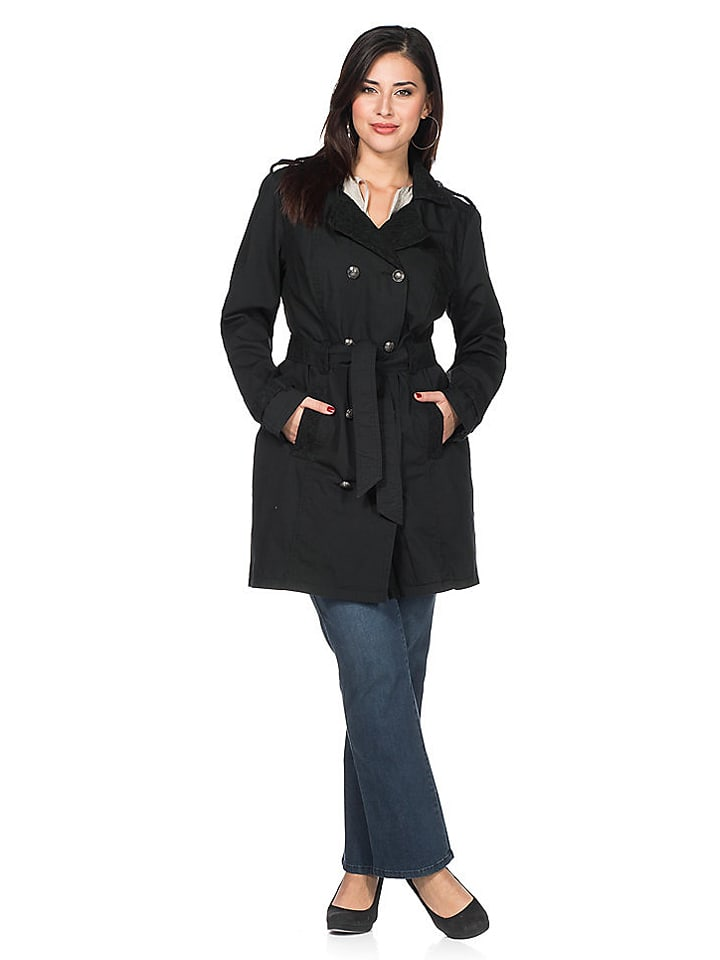 Sheego Trenchcoat in Schwarz