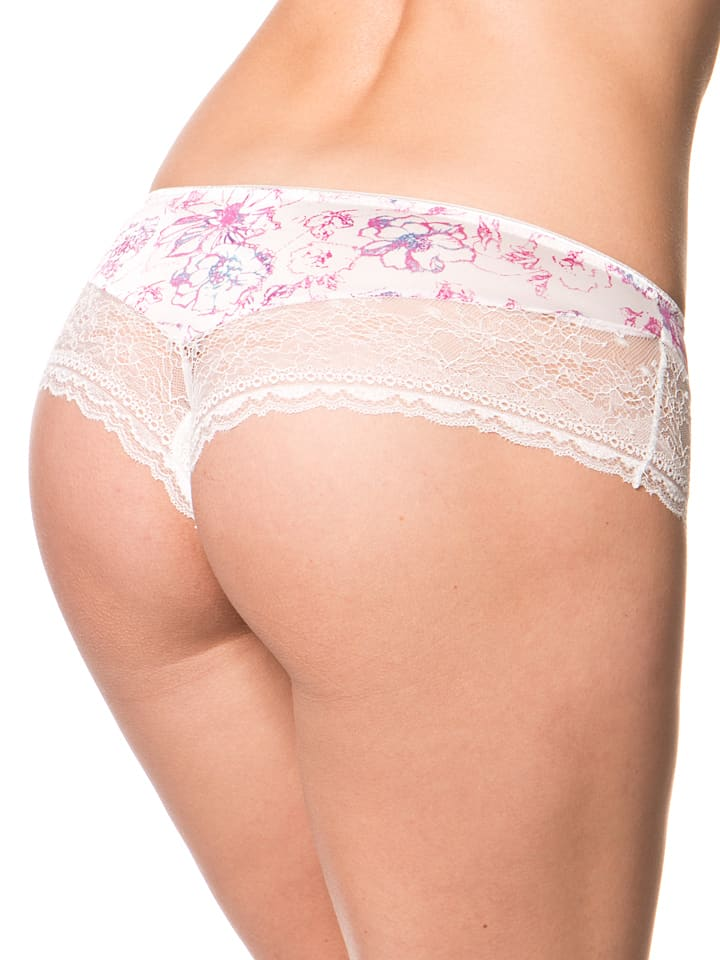 "Sassa Panty ""Watercolour Flowers"" in Creme/ Lila"