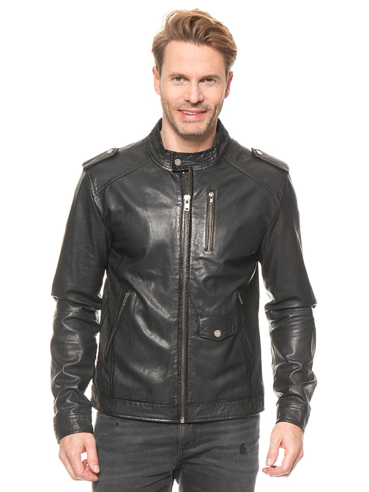 "FREAKY NATION Lederjacke ""Pete"" in Schwarz"