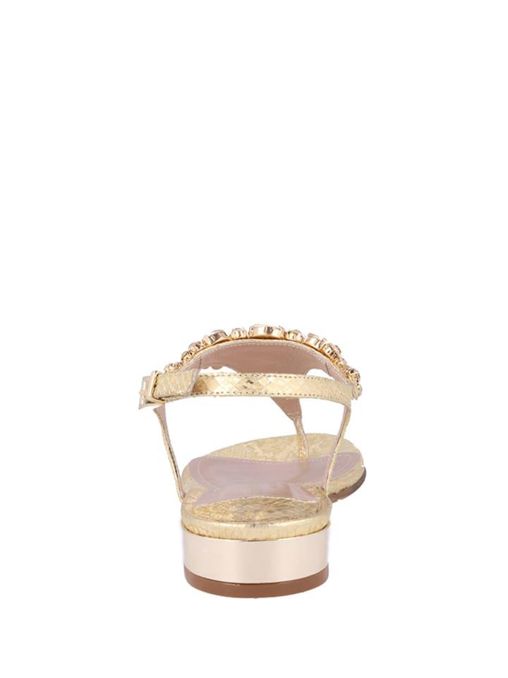 Roberto Botella Roberto Botella Flache Sandaletten  in gold