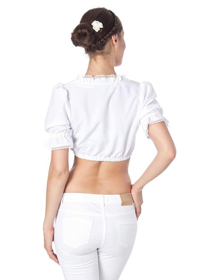 LEKRA Fashion Dirndlbluse Pauline in Weiß