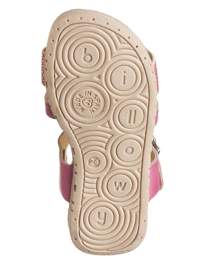 Billowy Leder-Sandalen in Pink