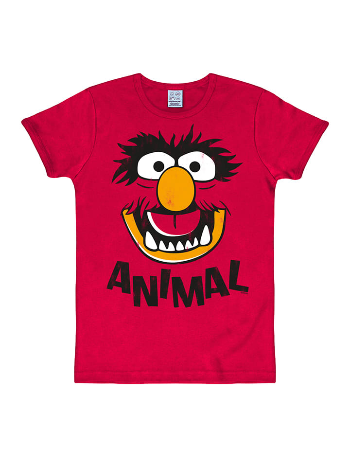"Logoshirt Shirt ""Animal Face"" in Rot"