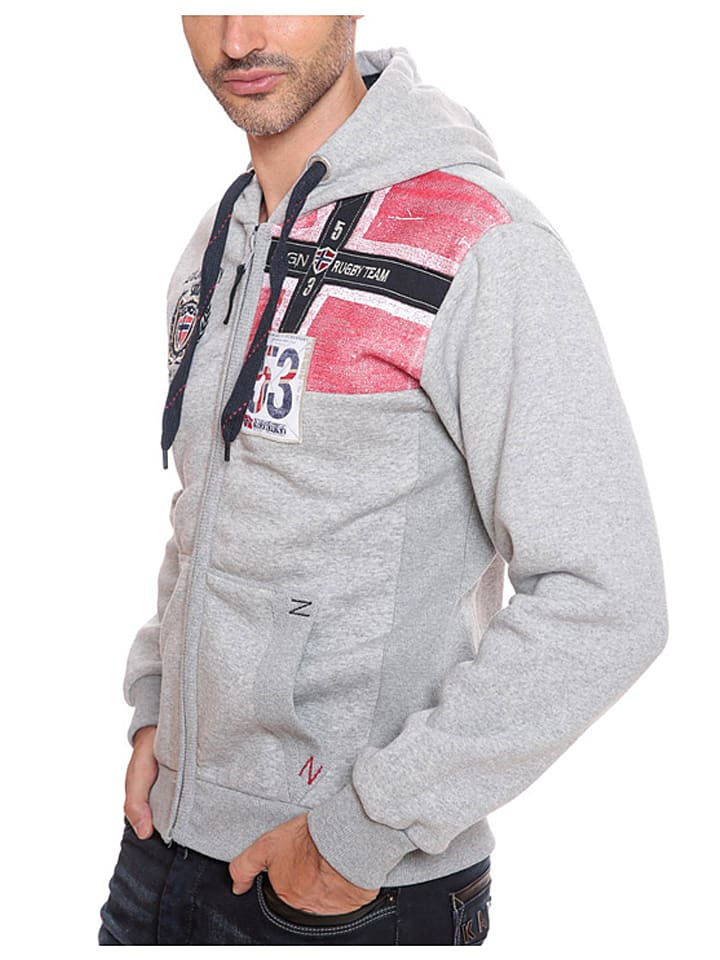 "Geographical Norway Sweatjacke ""Fambro"" in Grau"