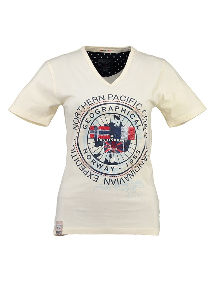"""Geographical Norway Shirt """"Jashley"""" in Hellgelb"""