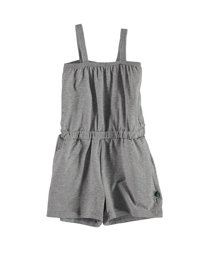 "Green Cotton Jumpsuit ""Alfa"" in Grau"