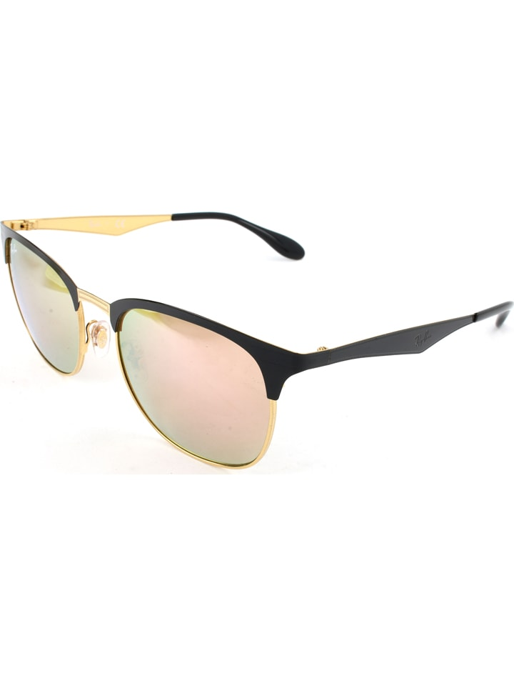 Ray Ban Unisex-Sonnenbrille Clubmaster in Gold - 44% Gcol5