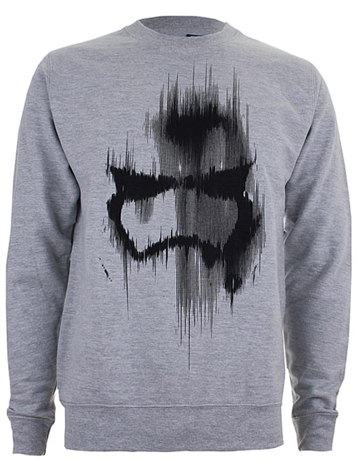 "Star Wars Sweatshirt ""Trooper Mask"" in Grau"