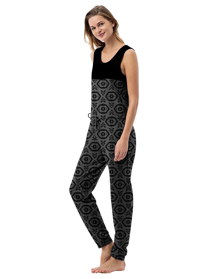 "ZipUps Jumpsuit ""Classic Sleeveless"" in Schwarz/ Grau"
