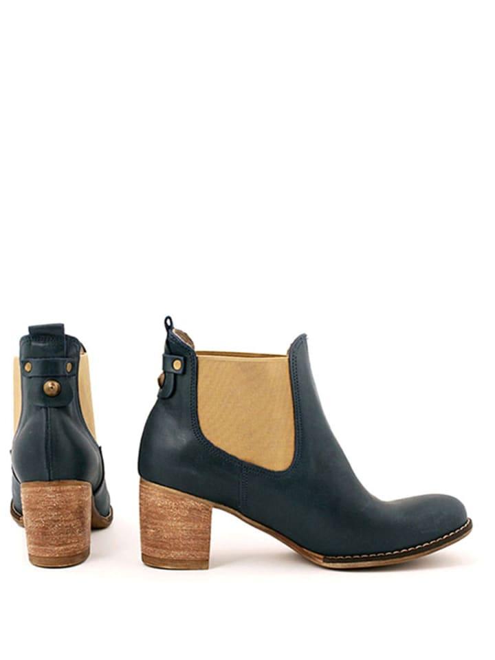 Zapato Leder-Stiefeletten in Dunkelblau - 66% 1ufxEDLQdV