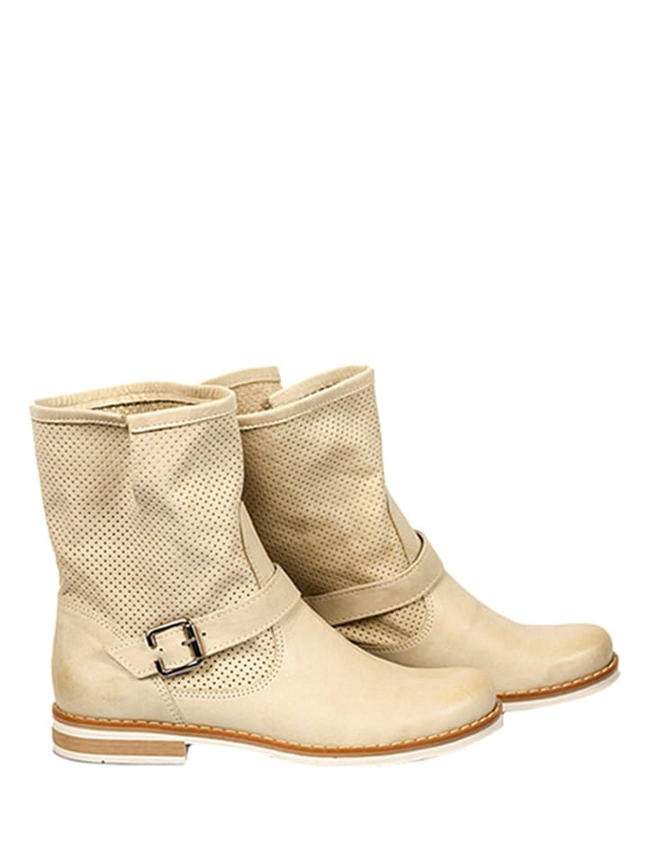 Zapato Leder-Boots in Beige